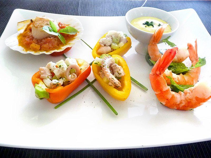 Corso cucina antipasto di pesce tris di mare for Cucina antipasti
