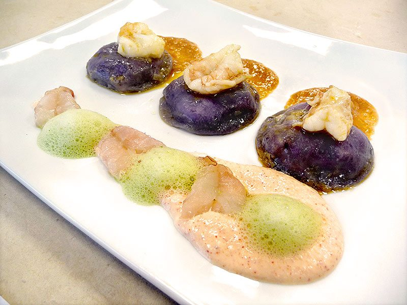 Corso Cucina Ravioli Di Patate Viola Egamberi Su Crema Di Burrata